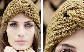Вязание чалмы спицами по схеме и фото мастер-классам