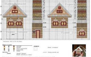 Вышивка крестом домики: схемы, фото и видео мастер-классы