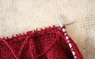 Как вязать рукав спицами — мастер-класс для начинающих