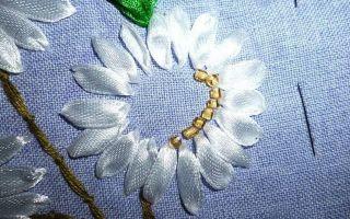 Вышивка лентами маки в мастер-классах (фото и видео)