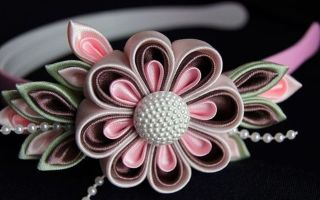 Ободки с цветами, а также повязки и венки из лент (фото)