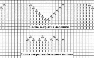 Вравила вязания варежек на двух спицах по фото и видео уроку