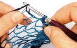 Шарф спицами из ленточной пряжи учимся вязанию по видео уроку