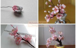 Сакура из бисера: мастер-класс плетения японского дерева
