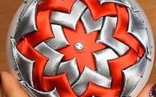 Канзаши новогодние украшения: делаем поделки из лент