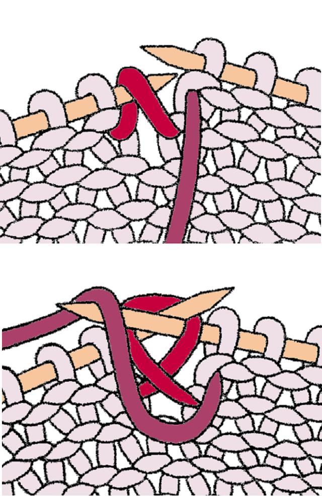Ажурная манишка спицами вязаная по схеме с описанием