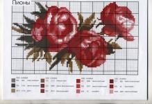 Вышивка бисером пионы с примерами схем