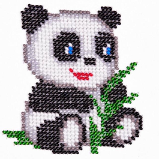 Панда из бисера: схемы плетения фигурки животного