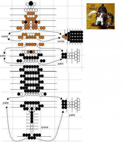 Животные из бисера: уроки плетения зверей и птиц (схемы)
