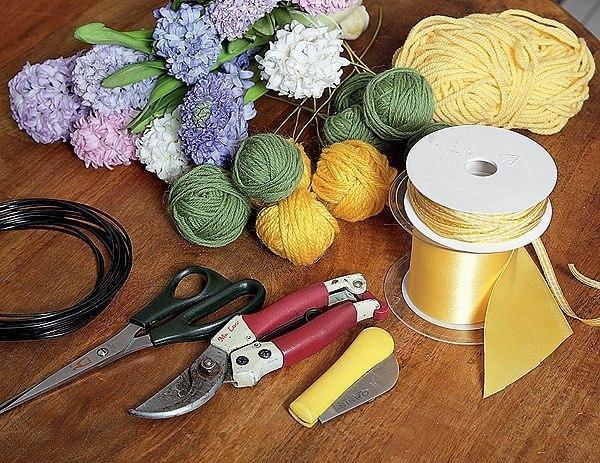 Цветы из ниток своими руками в пошаговых фото мастер-классах