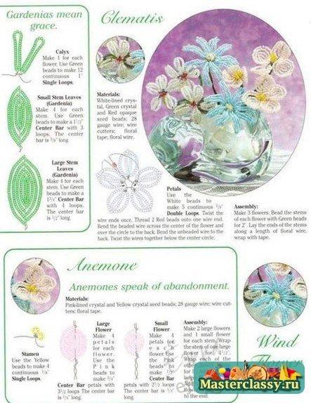 Бисероплетение цветы и их оформление (схемы и фото)