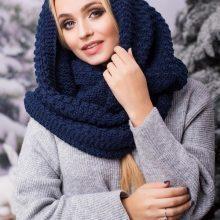 Подробный урок вязание спицами шарфа хомута с разнми узорами