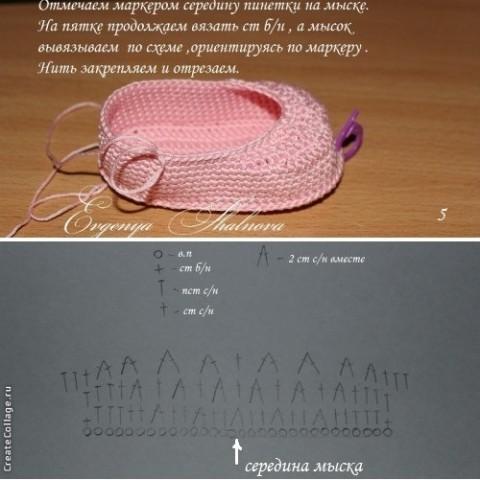 Вяжем пинетки зайчики по подробному мастер-классу с фото и видео