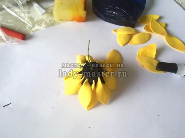 Канзаши подсолнух: МК солнечного цветка (фото и видео)