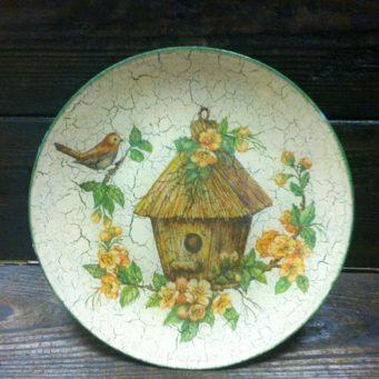 Декупаж тарелок на примере прямого и обратного способов