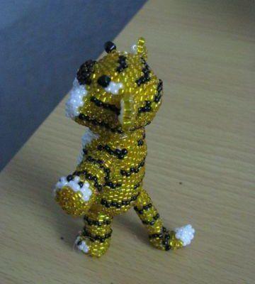 Тигр из бисера: мастер-класс с пошаговыми фото плетения