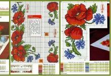 Вышивка крестом маков по схемам и фото мастер-классы с описанием процесса