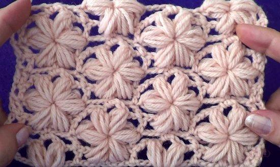 Пошаговое вязание узора звёздочка спицами в фото-видео МК