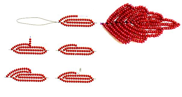 Французское плетение бисером по схеме в пошаговом мастер-классе