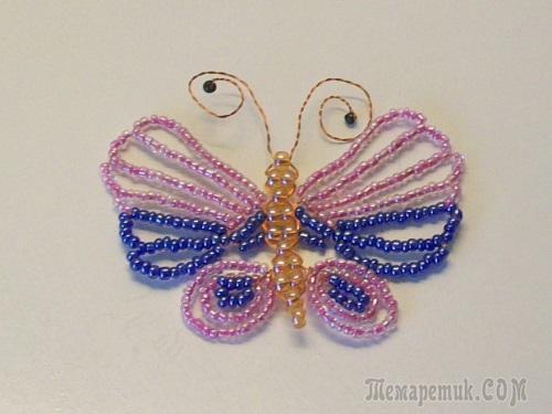 Бабочка из бисера: плетение крылатых насекомых своими руками