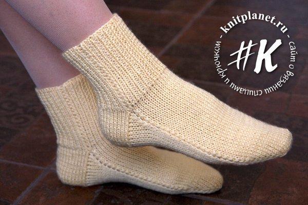 Вяжем спицами носки по схеме с сопроводительным мастер-классом