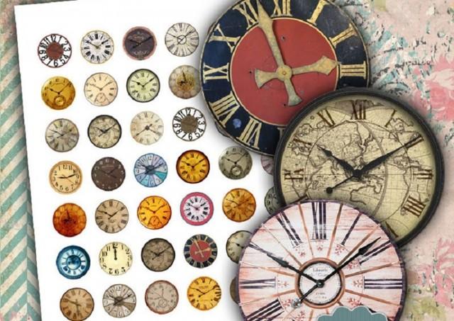 Декупаж часов разными техниками (фото и видео)