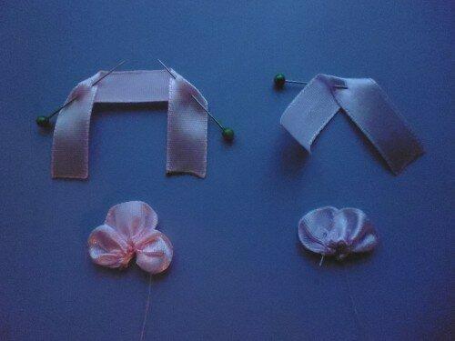 Вышивка лентами анютины глазки по фото и видео мастер-классам