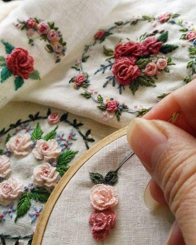 Вышивка рококо в обучающем уроке (фото и видео)