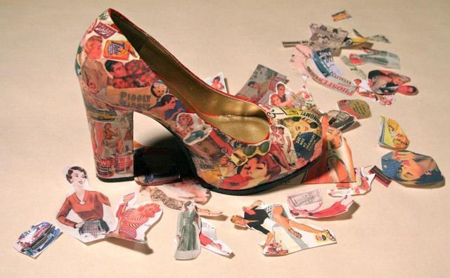 Декупаж обуви и уроки по декору на коже (фото и видео)