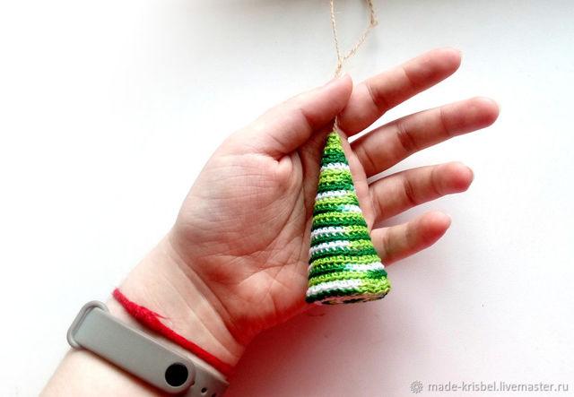 Как связать новогоднюю елочку спицами по схеме с подробным описанием