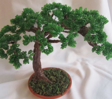 Бонсай из бисера: миниатюрное дерево своими руками (фото)
