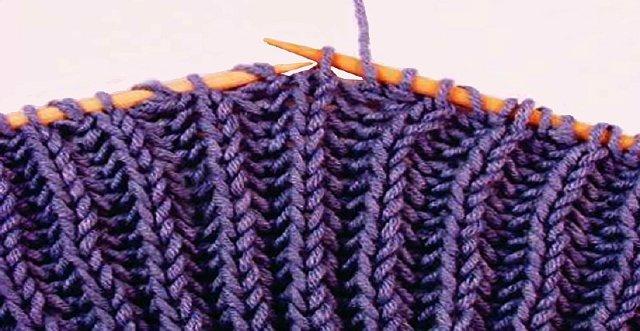 Учимся вязать шарф английской резинкой по схема и видео МК
