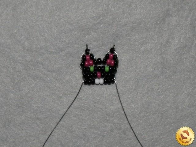 Котёнок из бисера своими руками по схеме с фото и видео мастер-классом