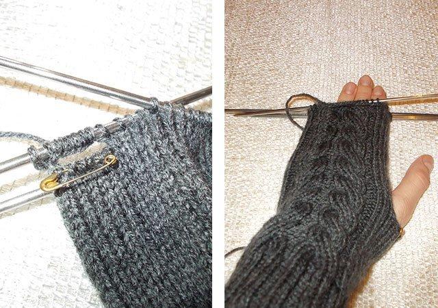 Варежки ажурные вязание спицами по схеме с подробным описанием