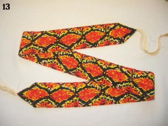 Пояс из бисера в фото мастер-классе и схемах плетения