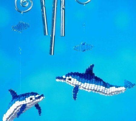 Дельфин из бисера для начинающих и плетение фигурки по схеме