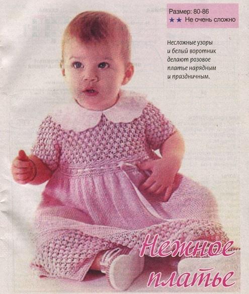 Учимся вязать летнее платье спицами по схеме с описанием и МК