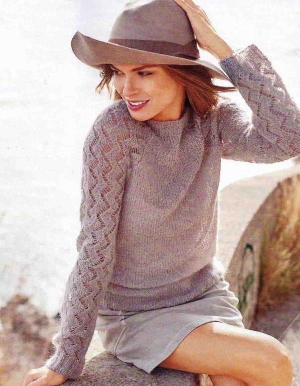 свитер из мохера спицами схемы