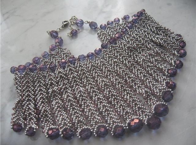 Цепочка из бисера: схемы плетения по фото-видео уроку