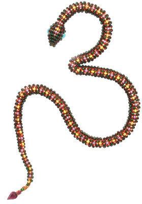 Змея из бисера в пошаговых фото мастер классах и видео уроках для начинающих