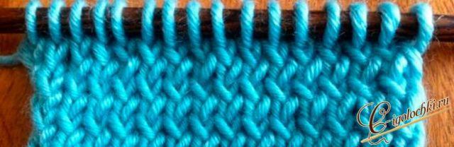 Лицевая скрещенная петля: видео уроки вязания