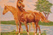 Вышивка бисером лошади: схемы полной и частичной зашивки