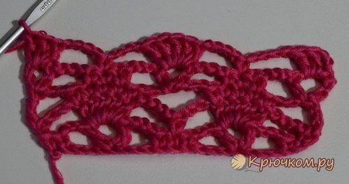 Вязание узора паучки спицами по схеме с описанием и фото-видео уроком