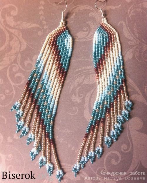 Серьги из бисера: уроки плетения (фото и видео)