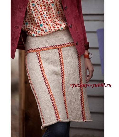Вязанные спицами юбки со схемами и описанием