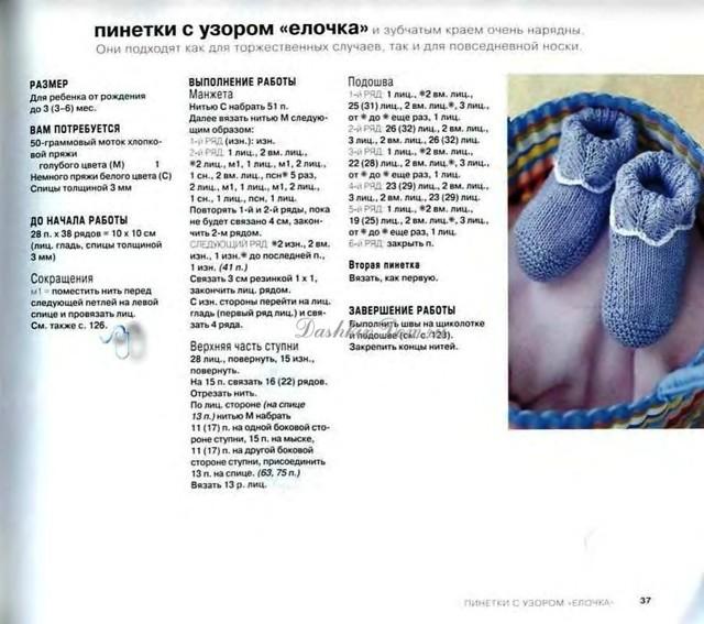 Пинетки собачки вязаные спицами по мастер-классу с подробным описанием и схемой