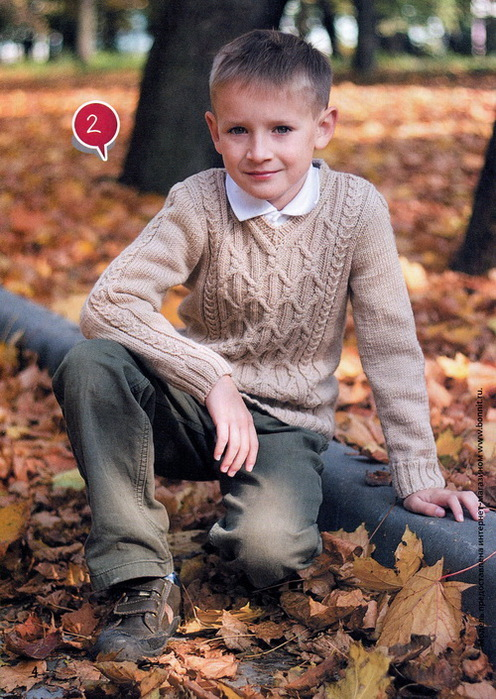 Пуловер вязаный спицами для девочки по схеме с подробным описанием и видео инструкцией