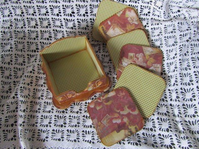 Декупаж на ткани, канве, картоне и компакт дисках (видео)