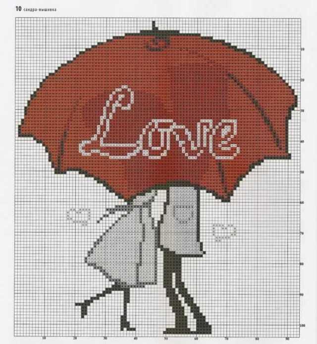 Вышивка крестом схемы любовь, романтика и нежные чувства