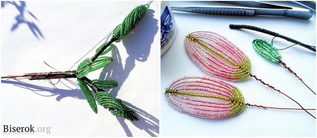 Лилия из бисера: плетение разных видов цветка (фото и видео)